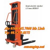 Xe nâng điện bán tự động 1,5 tấn cao 3m3 BTD1533