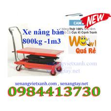 Xe nâng bàn 800kg nâng cao 1m3 wp800