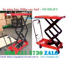 Xe nâng mặt bàn 350kg cao 1m3 Nichilift