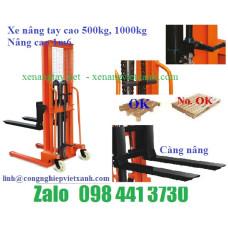 Xe nâng tay cao 1000kg A1.0T/1.6M