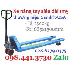 Xe nâng tay siêu dài 1m5 (685x1500mm)-tải 2500kg