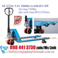 Xe nâng tay 3500kg hiệu Gamlift-Mỹ