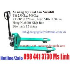 Xe nang tay nhật bản Nichilif 2500kg