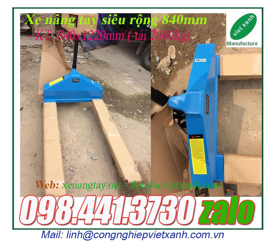 www.123nhanh.com: Xe nâng tay siêu rộng 840x1220mm