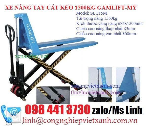 Xe nâng tay cắt kéo 1500kg gamlift-my-slt15m